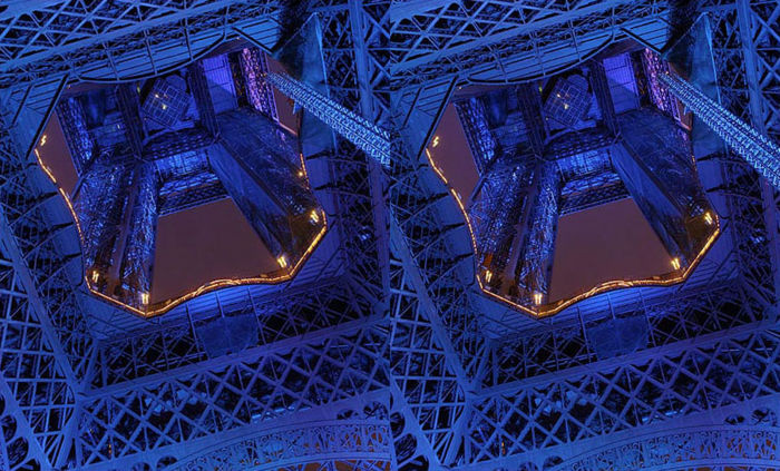 La Tour Eiffel bleue Version anaglyphe ►